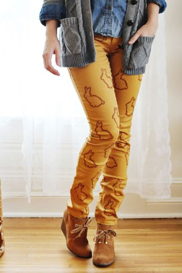 Animal Stencil Statement Pants DIY