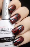 Amazing Stylish Rose Nails Design for Valentine's Day