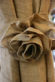 Burlap Flower Curtain Tie Backs