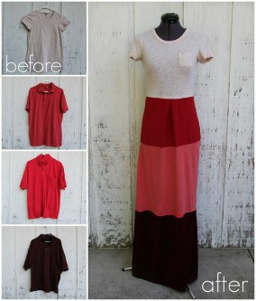 Colorblock Dress from T-Shirts