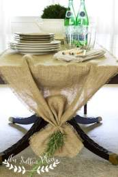 Easy No Sew Burlap Table Runner