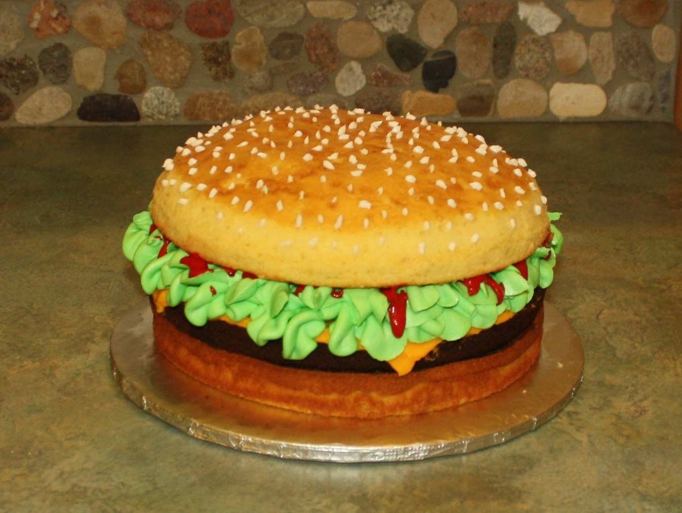 Hamburger Birthday Cake ZoomZee