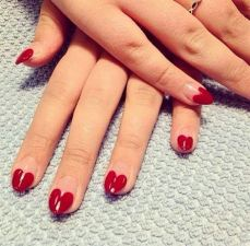 Heart French Manicure Design