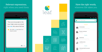 Leaf Language-Learning App - Relevant Expressions Right When You Need Them