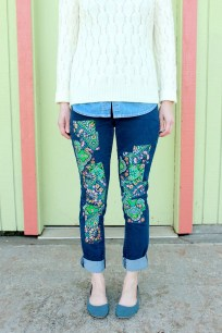 Colorful Patchwork Jeans
