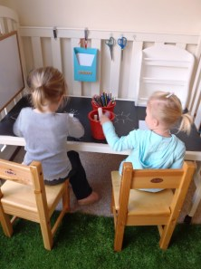 Repurpose An Old Cot Into A Desk For Kids