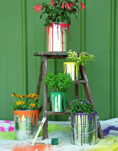 Repurposed Paint Containers