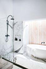 The Oregon Timber Wall & Calacatta Marble Style