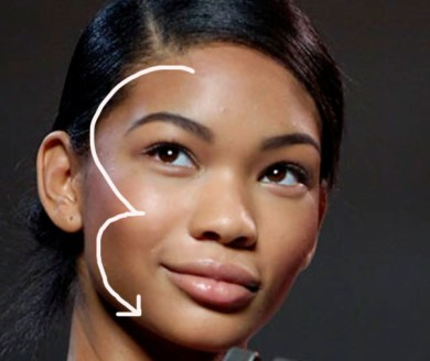 Apply Your Bronzer in a 3-Shape Motion