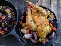 Crispy Roast Chicken and Root Vegetables