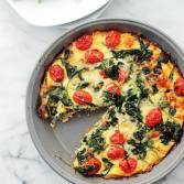 Hash browns, Spinach & Tomato Pie