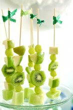 Healthy Fruit Skewers For St Patrick's Day
