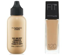 MAC Studio Face & Body Foundation VS Maybelline FIT me! Foundation