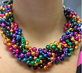 Mardi Gras Rainbow Statement Necklace