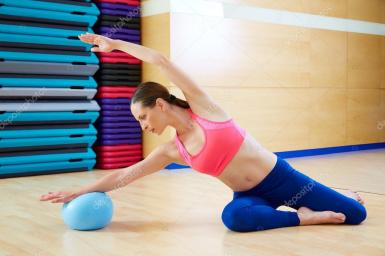 Mermaid Stability Ball Exercise