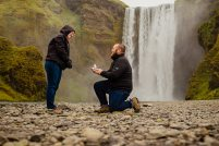 Propose In Front Of A Waterfall