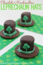 St. Patrick's Day Chocolate Marshmallow Leprechaun Hats