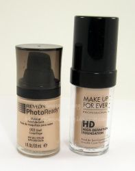 The Revlon Photo Ready Foundation is a Dupe of the MUFE HD Foundation
