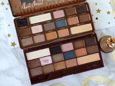 Too Faced Semi Sweet Chocolate Bar vs Makeup Revolution Salted Caramel