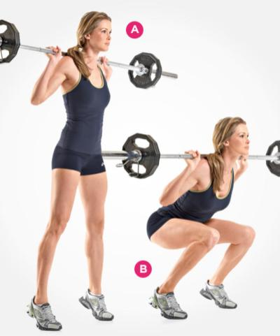 Wide Stance Barbell Squats