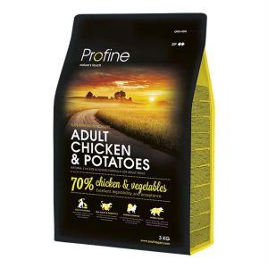 Корм для взрослых собак всех пород с курицей Profine Adult Chicken and Potatoes