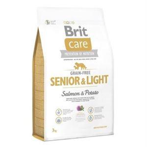 Корм для собак стареющих пород с избыточным весом Brit  Care GF Senior & Light Salmon & Potato