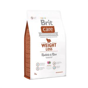Корм для собак с лишним весом со вкусом кролика Brit Care Weight Loss Rabbit & Rice