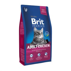 Корм для взрослых кошек с курицей Brit Premium Cat Adult Chicken