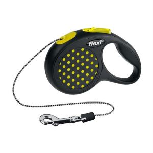 Рулетка Flexi DESIGN XS 3 м./8 кг. (трос) желтый, зеленый, розовый, синий горошек