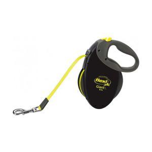 Рулетка Flexi NEON GIANT L 8 м./50 кг. (лента) желтая/черная - неон