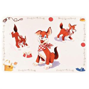 """Коврик под миску для собак Trixie """"Comic Dog"""" 56х38см"""