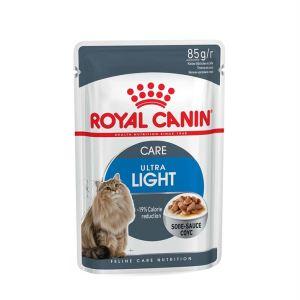 Влажный корм для кошек, склонных к избыточному весу Royal Canin ULTRA LIGHT в соусе