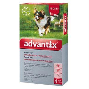 Адвантикс капли от блох и клещей для собак (от 10 до 25 кг) Bayer Advantix