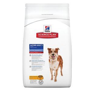 Корм для собак средних пород старше 7 лет - Активное долголетие Hill's SP Canine Mature Adult 7+ Active Longevity Medium с курицей