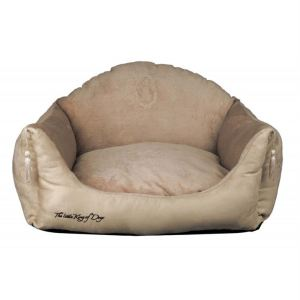 "Диван-лежак для собак ""King of Dogs"" с кисточками Trixie бежевый плюш 60х45 см."
