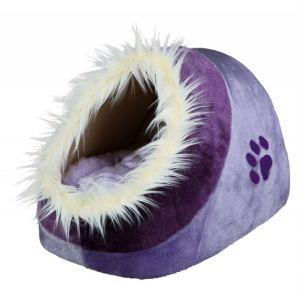 """Домик для котов и маленьких собак """"Minou"""" Trixie мех/плюш 35х26х41 см."""