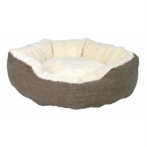 """Лежак для котов и собак """"Yuma"""" Trixie коричневый/белый, мех/ткань"""