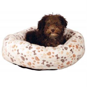 """Лежак для собак с лапками и косточками """"Lingo"""" Trixie белый/бежевый плюш"""