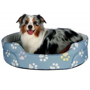 """Лежак для собак """"Jimmy"""" Trixie голубой с лапками нейлон"""