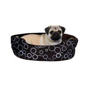 "Лежак для собак ""Marino"" Trixie коричневый с кругами плюш 75х65 см."
