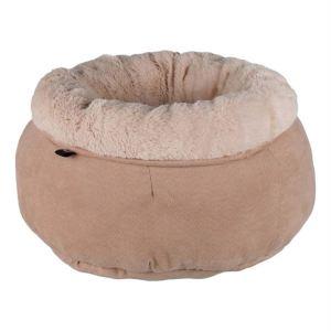 """Лежак круглый для котов и маленьких собак """"Elsie"""" Trixie бежевый замша/плюш 45 см."""