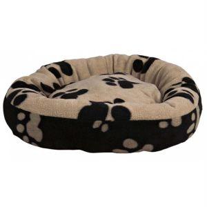 """Лежак круглый для котов и собак """"Sammy"""" Trixie черный/бежевый флис"""