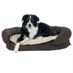 """Лежак ортопедический для собак """"Fabiano vital"""" Trixie коричневый/бежевый искусственная замша/плюш 75х55 см./ 120х75 см."""