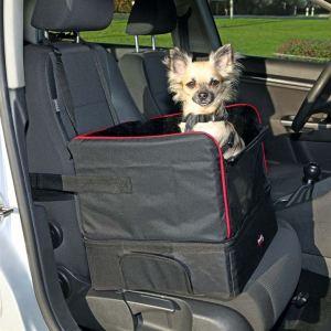 Место-лежак для собак (до 8 кг.) в автомобиль Trixie черный, нейлон/плюш 45х38х37 см.