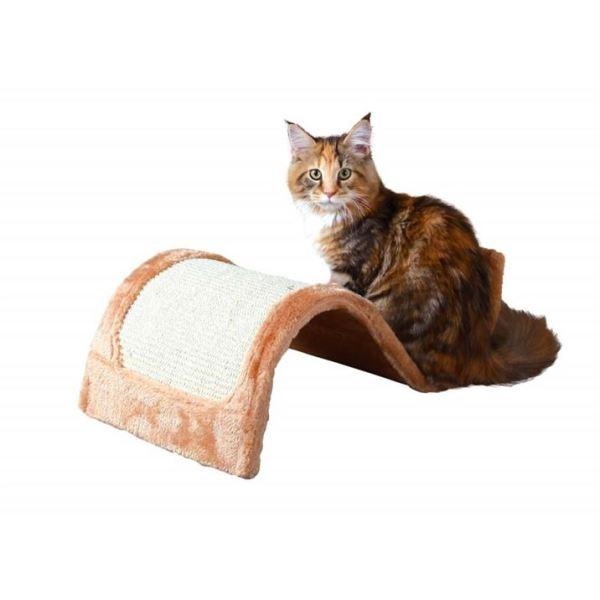 "Дряпка-волна для кошек ""Wavy"" Trixie коричневая, бордовая 50х29х18 см."