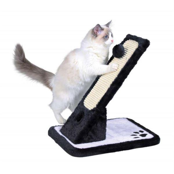 Дряпка-доска наклонная для кошек Trixie черная/кремовая 30х42х40 см.
