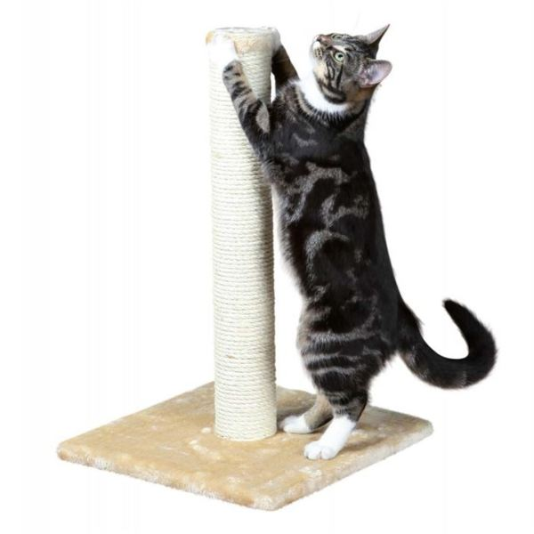 """Дряпка-столбик для кошек """"Parla"""" (""""Opal"""") Trixie бежевая, серая 62 см."""