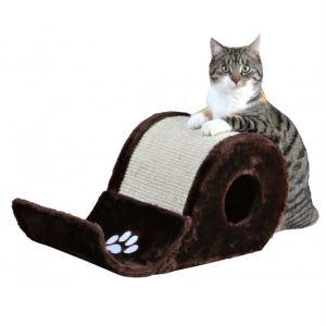 "Дряпка с домиком для кошек ""Elda"" (Волна) Trixie коричневая 48х27х24 см."