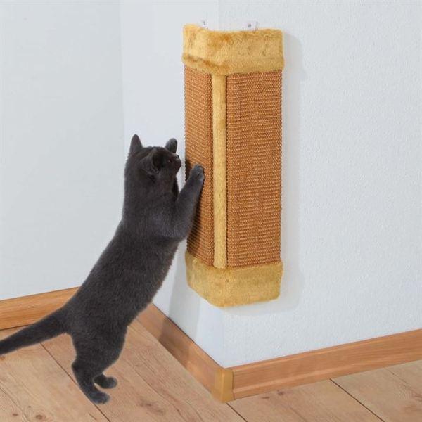 Дряпка угловая для кошек Trixie натуральная/бежевая, коричневая 23х49 см.