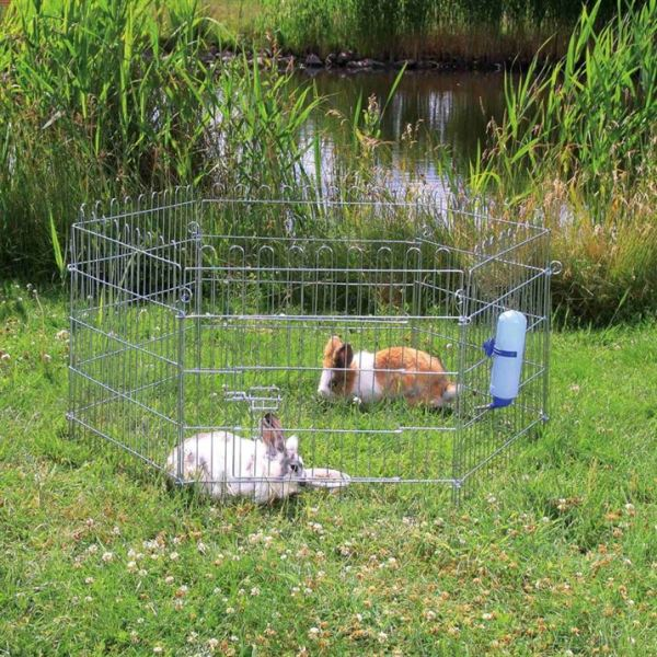 Вольер для кроликов и мелких животных Trixie металл d=1,26 м, h=58 см. (6 секций по 63 х 60 см.)